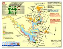 US Army Corps of Engineers Lake Belton Park Map